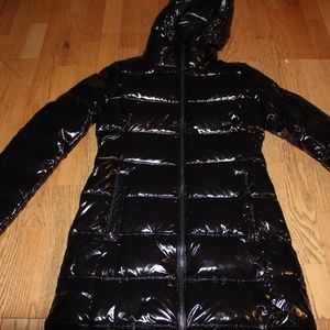 MICHAEL KORS QUILTED GLOSSED PUFFER DOWN COAT BLAC
